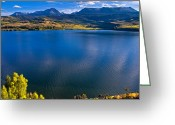 Fault Block Greeting Cards - Gore Range Behind Green Mountain Reservoir Greeting Card by Paul Gana
