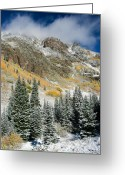 Gore Greeting Cards - Gore Range Cold Greeting Card by Adam Pender