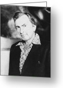 Gore Greeting Cards - Gore Vidal (1925-   ) Greeting Card by Granger