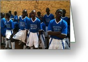 La Maison Des Esclave Greeting Cards - Goree Boys Greeting Card by Fania Simon