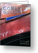 La Maison Des Esclave Greeting Cards - Goree Institute Greeting Card by Fania Simon