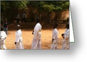 La Maison Des Esclave Greeting Cards - Goree Karate  Greeting Card by Fania Simon