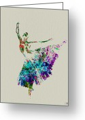Romantic Greeting Cards - Gorgeous Ballerina Greeting Card by Irina  March