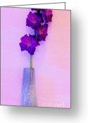 Purples Greeting Cards - Gorgeous Gladiola Greeting Card by Marsha Heiken