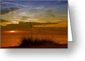 Sea Shore Digital Art Greeting Cards - Gorgeous Sunset Greeting Card by Melanie Viola