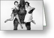 Movie Star Greeting Cards - Gorilla At Large, 1954 Greeting Card by Granger