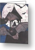 Vampire Painting Greeting Cards - Got Bats Greeting Card by Catherine G McElroy