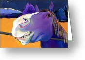 Horse Greeting Cards - Got Oats      Greeting Card by Pat Saunders-White