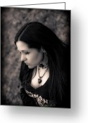 Antiquated Greeting Cards - Goth at Heart - 1of 4 Greeting Card by Scott  Wyatt