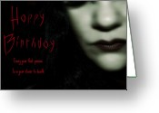 Birthday Cards  Greeting Cards - Goth Birthday Card Greeting Card by Lisa Knechtel