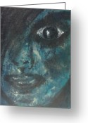 Dark Hair Pastels Greeting Cards - Goth Greeting Card by Dan Brown