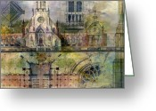 Arts Greeting Cards - Gothic Greeting Card by Andrew King