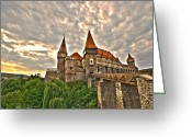 Knights Greeting Cards - Gothic Castle Greeting Card by Mircea Costina Photography
