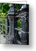 Fence Gate Greeting Cards - Gothic Design Greeting Card by Paul Ward