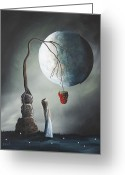 Romantic Greeting Cards - Gothic Fantasy Art by Shawna Erback So Tempting Greeting Card by Shawna Erback