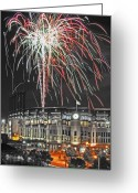 Illuminations Greeting Cards - Gothic Lumination Greeting Card by Kevin Munro