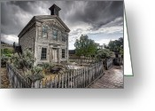 Western Trees Greeting Cards - Gothic Masonic Temple 2 - Bannack Ghost Town Greeting Card by Daniel Hagerman
