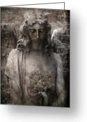 Surreal Gothic Angel Photography Greeting Cards - Gothic Surreal Inspirational Angel Art Greeting Card by Kathy Fornal
