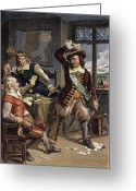 Amputee Greeting Cards - Gov. Peter Stuyvesant Greeting Card by Granger