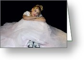Arms Folded Greeting Cards - Gown and Sneakers Greeting Card by Trudy Wilkerson