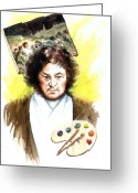 Spaniards Greeting Cards - Goya Greeting Card by Ken Meyer jr