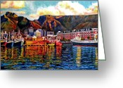 Town Painting Greeting Cards - Grace at the Table 2.0 Greeting Card by Dr Michael Durst