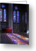 Diffused Greeting Cards - Grace Cathedral Walking Labyrinth - San Francisco Greeting Card by Daniel Hagerman