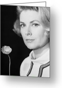 Princess Grace Greeting Cards - Grace Kelly (1928-1982) Greeting Card by Granger