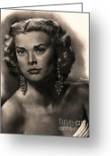 Graphite Mixed Media Greeting Cards - Grace Kelly Greeting Card by Consuelo Venturi
