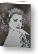 Princess Grace Greeting Cards - Grace Greeting Card by Lynet McDonald