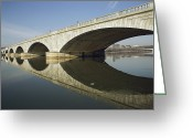 Arlington Memorial Bridge Greeting Cards - Graceful arches of the Greeting Card by Stephen St. John