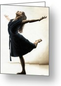 Ballet Art Greeting Cards - Graceful Enlightenment Greeting Card by Richard Young