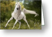 Gallop Greeting Cards - Graceful Greeting Card by Kate Black