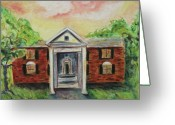 Tenn Greeting Cards - Graceland Greeting Card by Suzanne  Marie Leclair