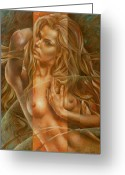 Figure Greeting Cards - Gracia3 Greeting Card by Arthur Braginsky