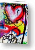 Green Tag Greeting Cards - Graffiti Art - Dont Bite Greeting Card by Erik Hovind