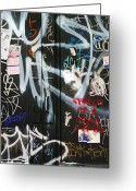 Nyc Graffiti Greeting Cards - Graffiti  Greeting Card by Chuck Kuhn