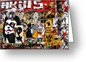 Lyle  Huisken Greeting Cards - Graffiti in LA Greeting Card by Lyle  Huisken
