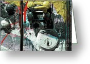 Nyc Graffiti Greeting Cards - Graffiti Lock Greeting Card by Anahi DeCanio