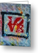 Logos Greeting Cards - Graffiti Love Greeting Card by Susan Candelario
