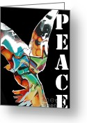 Graffiti Art For The Home Greeting Cards - Graffiti Peace Greeting Card by adSpice Studios