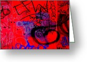 Spraypaint Greeting Cards - Graffiti Wall 2 Greeting Card by Randall Weidner