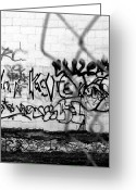 Roseanne Jones Greeting Cards - Graffiti Wall Greeting Card by Roseanne Jones