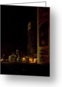 Elevators Greeting Cards - Grain Elevators on Hiawatha Greeting Card by Cynthia Dickinson