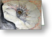 Pen Pastels Greeting Cards - Grain of Fire Greeting Card by Sarah Hornsby
