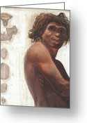Arms Folded Greeting Cards - Gran Dolina Boy Reconstruction Greeting Card by Kennis And Kennismsf