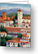Andalucia Greeting Cards - Granada View Greeting Card by Candy Mayer