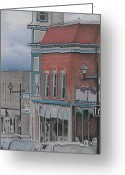 City Scene Drawings Greeting Cards - Granby Greeting Card by Wilfrid Barbier