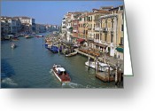 Venetian Architecture Greeting Cards - Grand Canal Greeting Card by Heiko Koehrer-Wagner