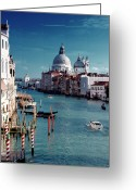 Christianity Photo Greeting Cards - Grand Canal Of Venice Greeting Card by Michelle O